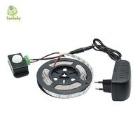 Tanbaby 5630 led luce di striscia 5 m 300 led dc12v flessibile 5730 Nastro Del led Con Sensore PIR Interruttore regolatore e 24 W adattatore di alimentazione