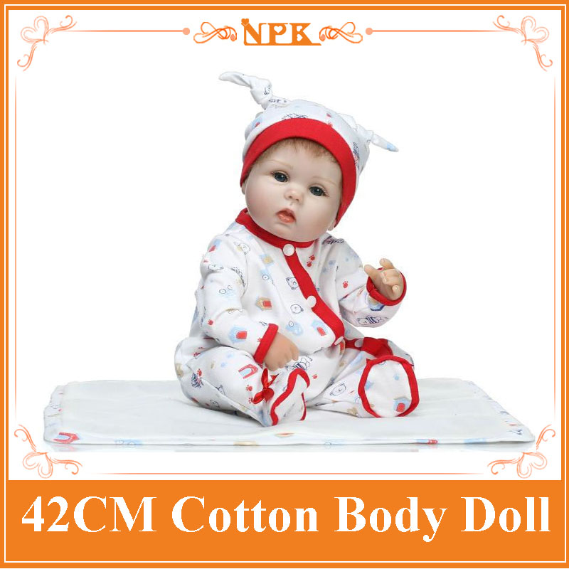 NPK 42cm Silicone Reborn Baby Doll Kids Playmate Gift For Girls Baby Alive Soft Toys Doll Babies Reborn Dolls With 17'' Clothes 18 inch vinyl reborn doll kids playmate gift for girls 45 cm baby alive soft toys for children lifelike reborn babies dolls