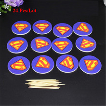 super hero party supplies cake topper baby 1st birthday boy decorations cupcake toppers man