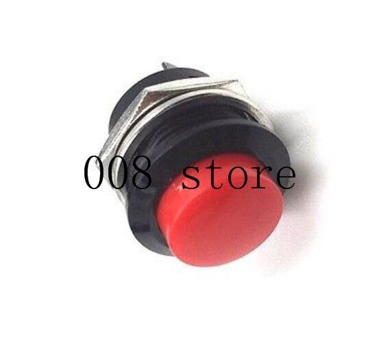 6 шт. 16 мм самовозвратный Мгновенный кнопочный переключатель 6A/125VAC 3A/250VAC R13-507 - Цвет: red