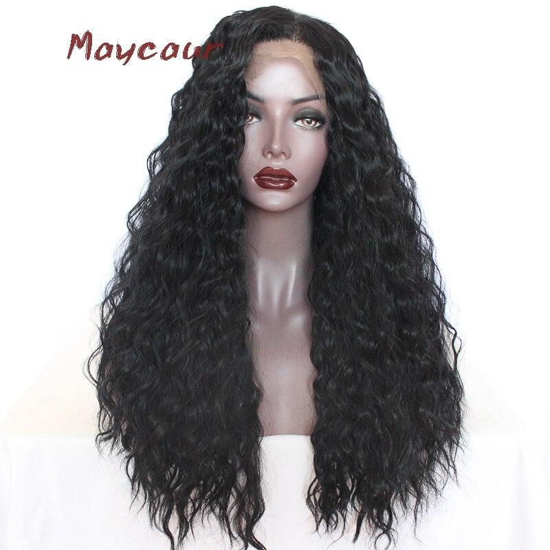 Μακρύ μίνι μάγουλο μπροστά περούκες - Συνθετικά μαλλιά - Φωτογραφία 3
