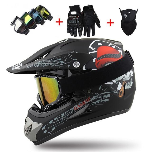 2018 Professional Racing Motocross Casque hors route Casque Moto Capacete Moto Casco Off-road Cartoon Children Motorcycle Helmet