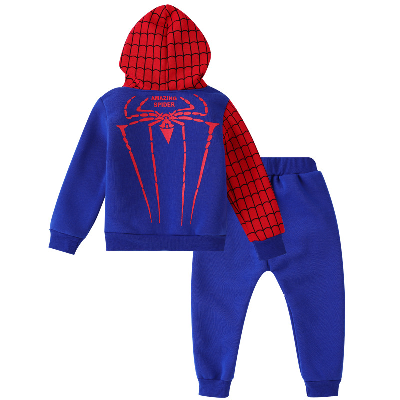 f20ab7a22 2017 Hots Baby Fleece Boys Sets Cotton Sport Clothing Suit,Kids Fashion  spider-man Cartoon Clothes Suit,Children Summer Clothing