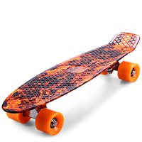 Outlife Faction Skateboard Printing Hellfire Flame Pattern Skateboards Complete 22 Inch Retro Cruiser Longboard Skatecycle