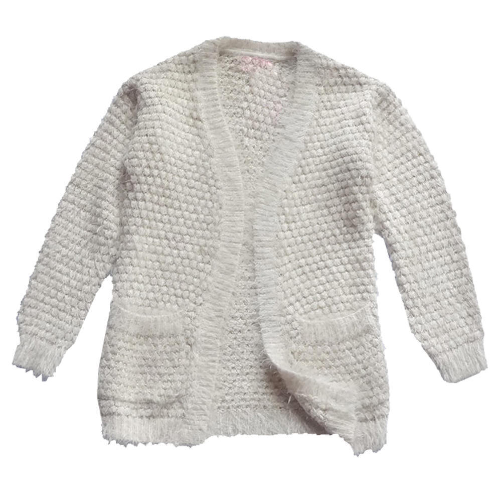 New Big Girls Beige Gold Sequin Cardigans Fashion Sweater ...
