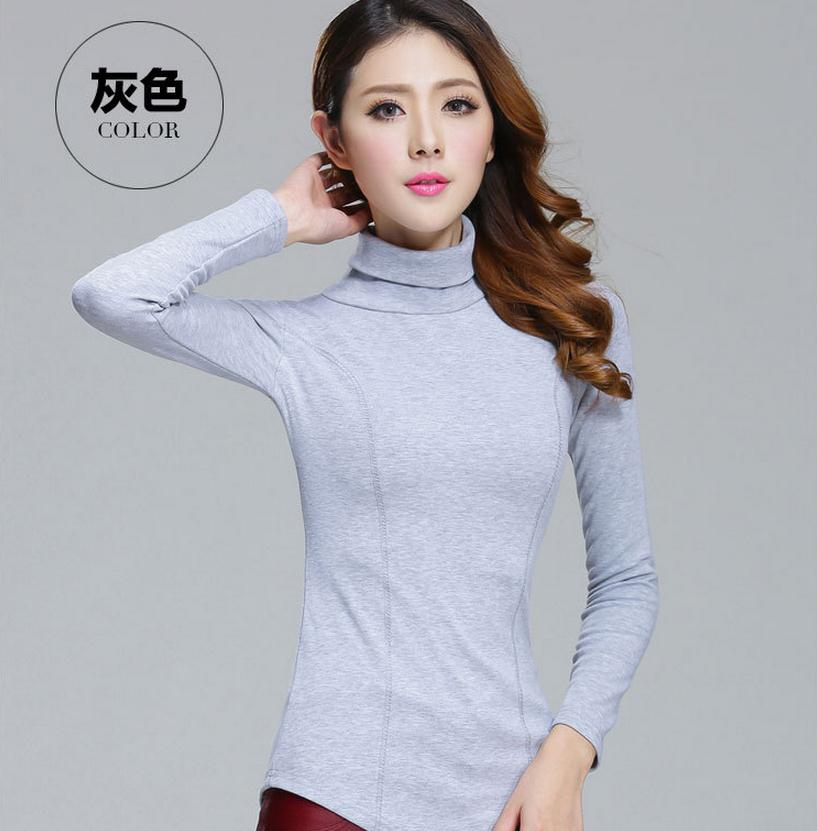 Herbst Winter 6 Farbe Frauen schlank Pullover plus Größe lange - Damenbekleidung - Foto 2