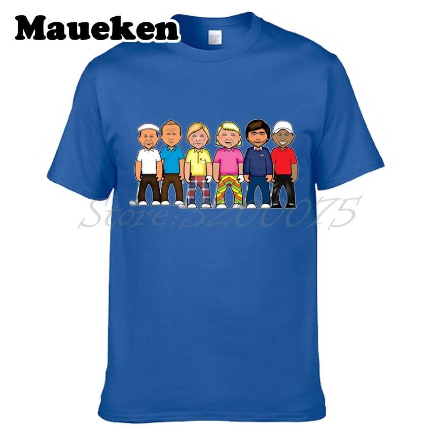 Mens Legends Tiger Woods golfing Seve Ballesteros John Daly Jack Nicklaus Palmer T-shirt T Shirt tee W0522039
