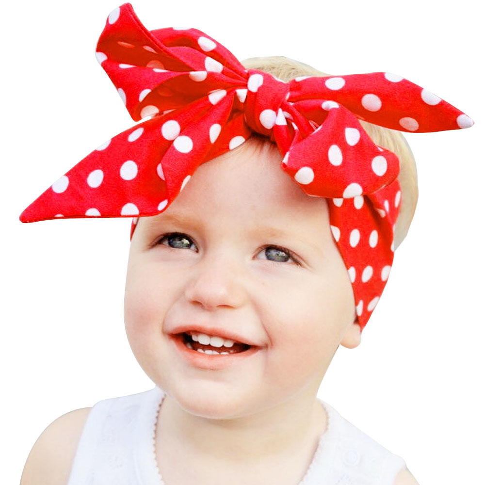 6 Types Fashion Kids Children Boy Girl Knotted Headband Bow Knot Hairband Multicolor Dot Headwrap Baby DIY Turban Hair Accessory knotted bow gingham headband 2pcs