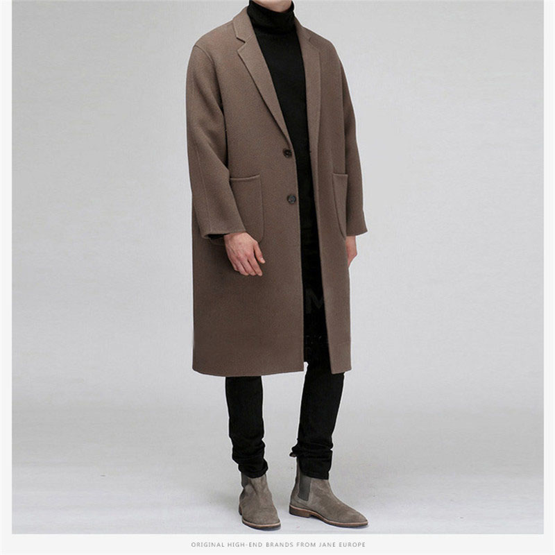 Autumn Long Coat Male New Fashion Casual Thick Lam