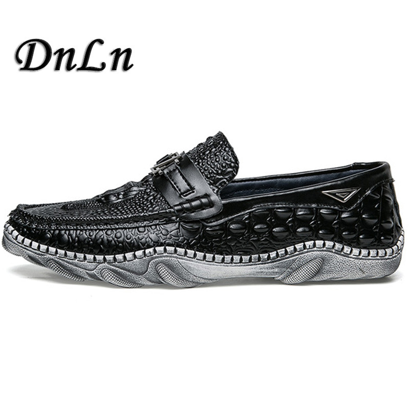 2018 Brand Mens Loafers Split Leather Moccasins Men Casual Shoes Crocodile Style Soft Men Driving Shoes Size 38-44  Zt40 new men s octopus leather penny loafers crocodile slip on driving shoes mens casual shoes moccasins business boat shoes branded