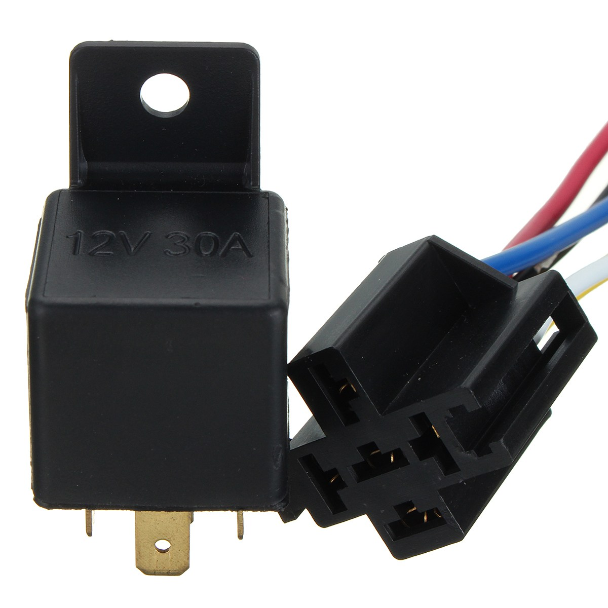 Detail Feedback Questions About 5pcs 12v 40a Car Truck Van 5 Pin Relay Connector Motorcycle Boat Switch W Socket Holder Module Integrated Circuits On