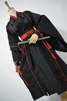 Jin Ye Xi Night Attack Male Hanfu Original Black Sword Men Martial Arts KungFu Male Cosplay Costume Hanfu Short Design
