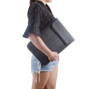 Image 5 - Notebook à prova d água Caso Bolsa Protetora para 17.3 17 15.6 15 14 13.3 12 11.6 polegada Laptop Sleeve suave capa de transporte sacos de malote