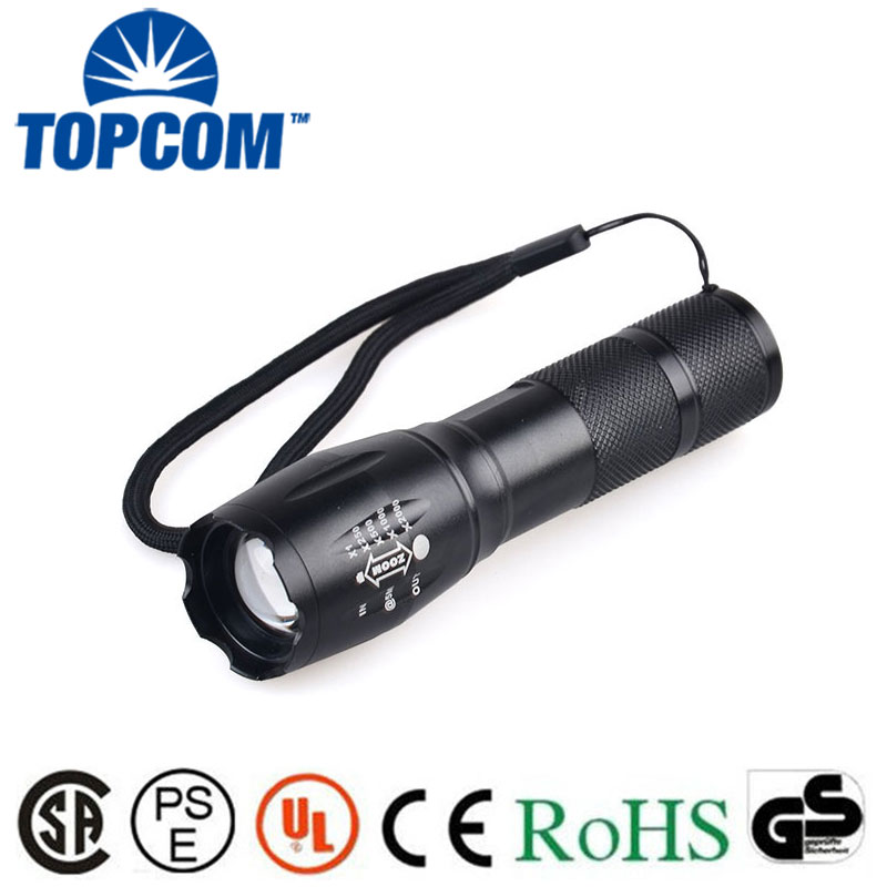 [Free Ship] High Power 3800LM T6 5 Modes Tactical LED Flashlight Torch G700 Flashlight Torch Lanterna Zoomable