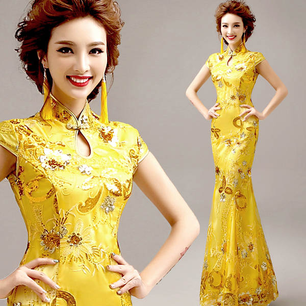 placeholder traditional chinese clothing for wedding cheongsam dress in  sequin qipao women dresses chinese traditional dress custom 86337b1ce8c4