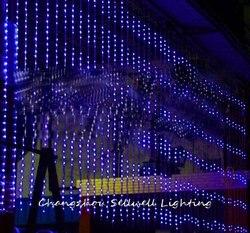 Dobre! uroczystości ślubne produkt hotel prezentacja dekoracji 3*6 m niebieski lampa cyfrowa H209