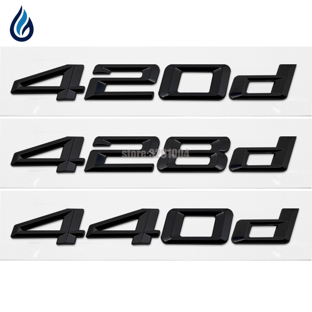 Car-Styling For BMW 4 Series 420d 428d 440d Rear Trunk Lid Bumper Number Letters Badge Emblem Logo Stickers For F32 F33 F36 car styling for mercedes benz g series w460 w461 w463 g230 g300 g350 chrome number letters rear trunk emblem badge sticker