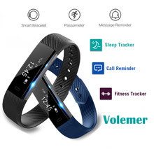 ID115 Banda Inteligente Pulsera Rastreador de Ejercicios Paso Contador Smartband Reloj Despertador Vibración Pulsera para Android 4.4 IOS 7.1