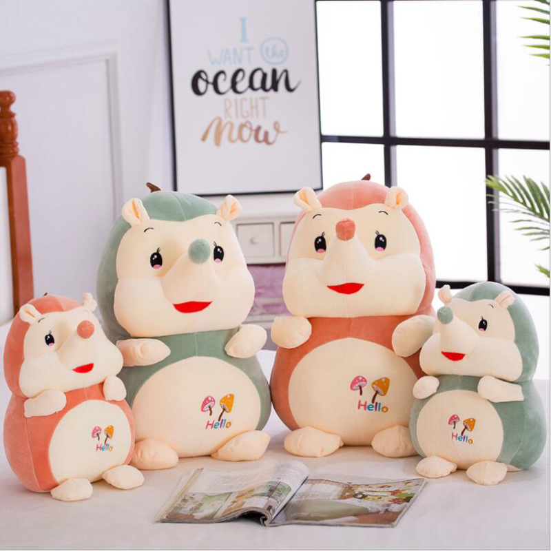 Creative Lovely Hedgehog Short Plush Toys Stuffed Animal Soft Doll Toy Children Gifts Kids Birthday Gift