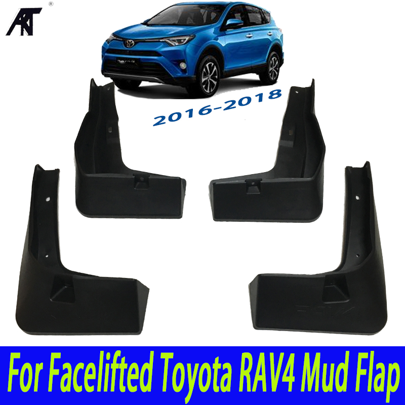 Car Mud Flaps For Facelifted Toyota RAV4 2016 2017 2018 Set Molded Mudflaps Splash Guards Mud Flap Mudguards Fender Accessories