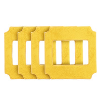 Alfawise Win660 Square Microfiber Cleaning Pad 4 Pcs Set For Alfawise Robotic Window Cleaner Mop Cloths