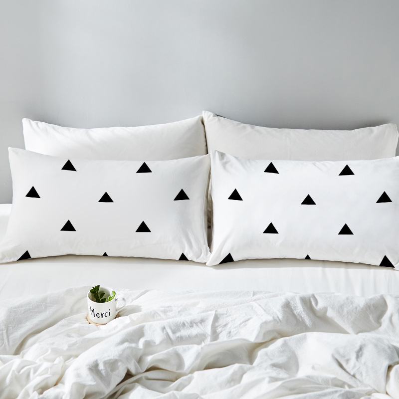 YLW 2Pcs Pattern Bedding <font><b>Pillow</b></font> <font><b>Case</b></font> Couple Lovers Home Bedroom <font><b>Pillow</b></font> Cover 50x75CM/<font><b>50x90CM</b></font> Gift Pillowcase Multi-Patterns image