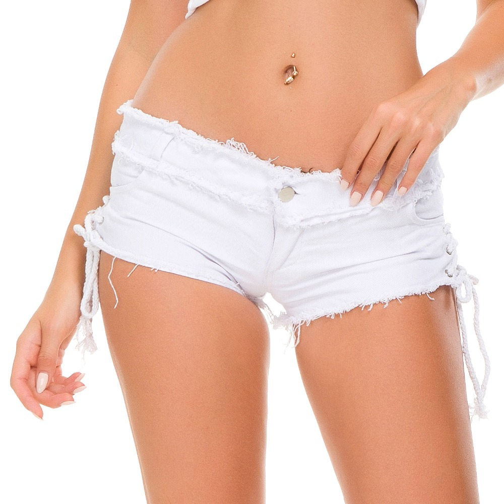 Summer Denim Shorts For Women Sexy Mini Shorts Women Lace Up Skinny Short Jeans Low Waist Shorts Ripped Denim Short Femme A198 in Shorts from Women 39 s Clothing