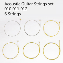 Brass Acoustic Guitar Strings set 010 012 SUPER LIGHT Steel Plated Stainless Steel Strings Set Replacement for Acoustic Guitar цена в Москве и Питере