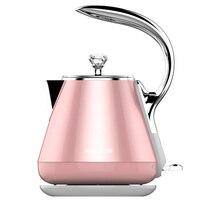 15 UniqueDesign розовый Электрический чайник 1.2L FoodGrade Нержавеющаясталь Электрический чайник бесшовные внутренняя анти Сухой кипения воды машина