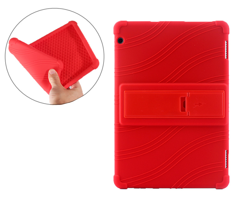 Shockproof Kids Soft Silicone Cover For Huawei Mediapad T5 10 AGS2-W09/L09/L03/W19 Tablet Funda Kickstand Case + Film + Pen