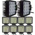 10 pcs 4 INCH 48 W LED TRABALHO LIGHT LUZ OFFROAD nevoeiro Flood/spot inundação 24 V 12 V led luzes de trabalho do trator off road 4X4 ATV carro BARCO