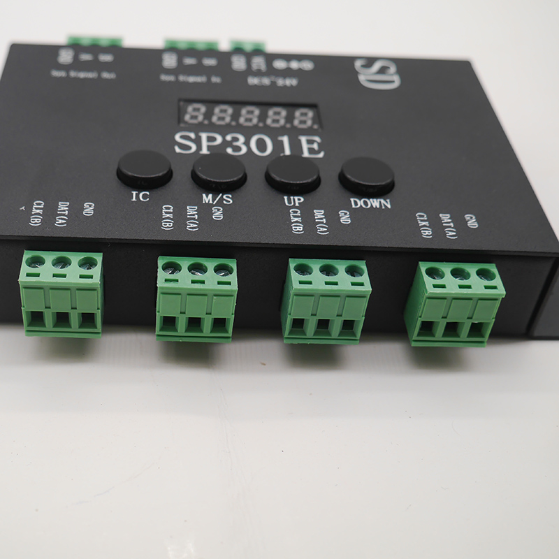 SP301E Syn signal Programmable Pixel LED Controller For WS2811 WS2813 WS2812B SK6812 APA102 Pixel LED Strip Panel light DC5 24V in RGB Controlers from Lights Lighting