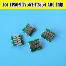 10 Set Europe T755 T7551 ARC Auto Reset Cartridge Chip For Epson WF-8010 WF8010 WF-8090 WF-8510 WF-8590 Printer