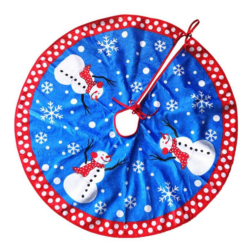Pcs cm blue christmas tree skirt upscale embroidered