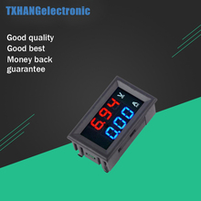 цена на DC 100V 0-100V 10A Digital Voltmeter Ammeter Dual Display Voltage Detector Current Meter Panel Amp Volt Gauge 0.28 Red Blue LED
