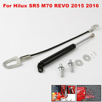 4x4 Pickup Accessories Stainless Rear Tailgate Slow Down Gas Shock Assist Strut Damper for Toyota Hilux SR5 M70 REVO 2015 2016