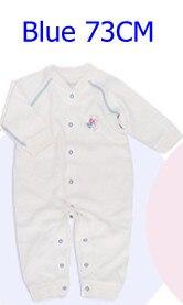 Комбинезоны для маленьких мальчиков и девочек, коллекция года, Одежда для новорожденных и малышей, детский хлопковый комбинезон с длинными рукавами, Красивый хлопковый комбинезон унисекс - Цвет: 73CM BLUE