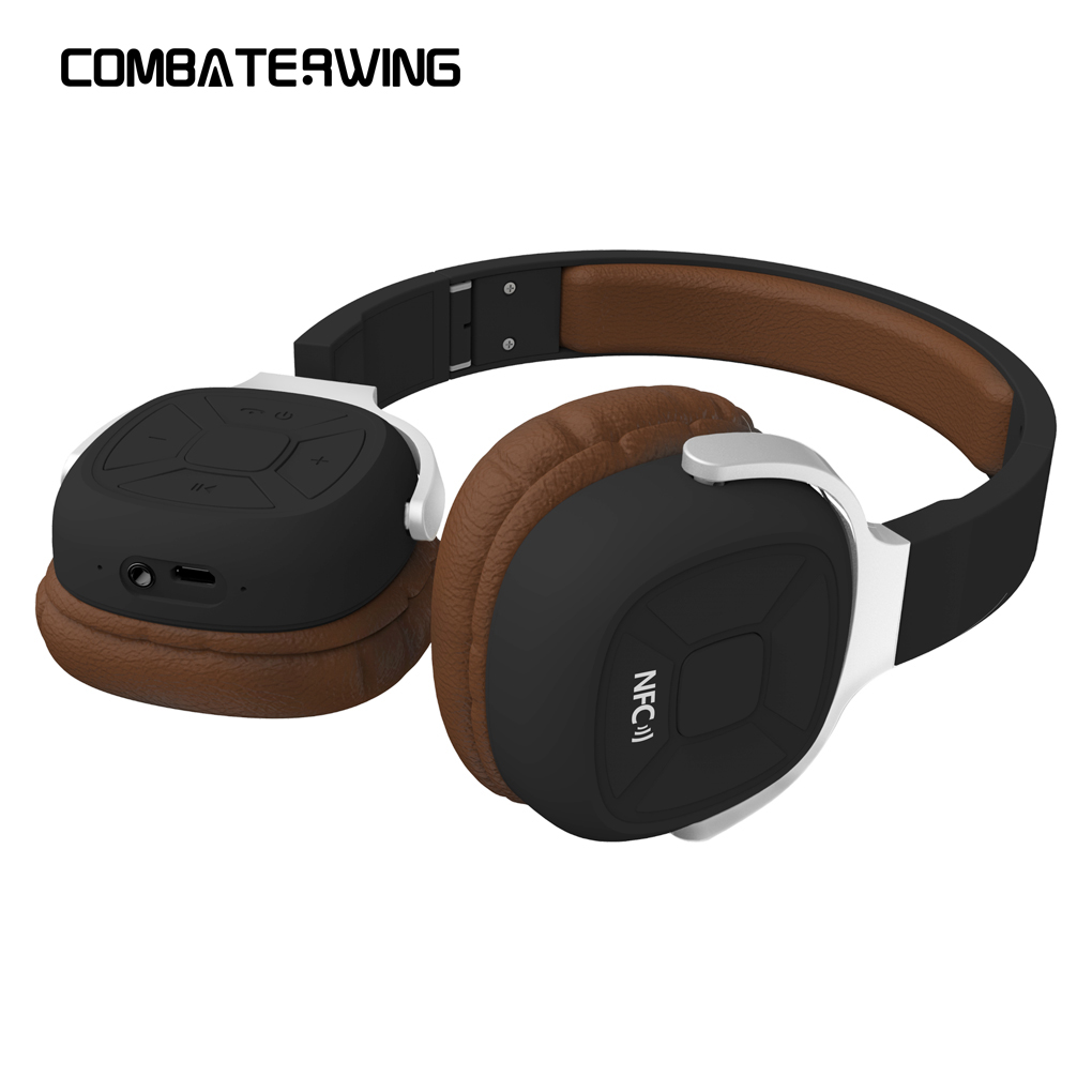 New Bee Foldable Portable Wireless Bluetooth V4.1 Stereo Headphone Earphone Sports Headset with Pedometer App Mic NFC archeer ah07 bluetooth foldable headphone wireless stereo headphone with mic soft ear cups adjustable headset 100