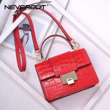NeverOut New Women Small Flap Handbags Fashion Alligator Crossbody Bags Classic Messenger Bag Luxury Split Leather Shoulder Bags