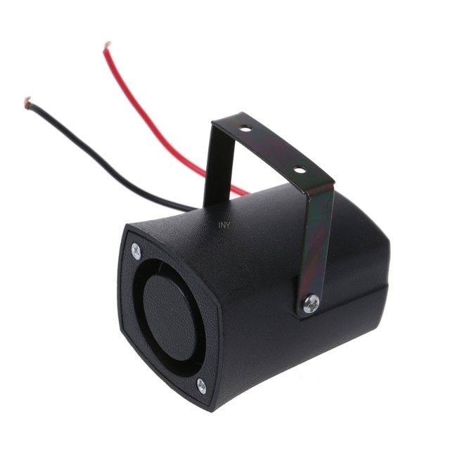 DC12V Auto Warning Siren Backup Alarms Horns Beep Reverse Slim Invisible Horn INY