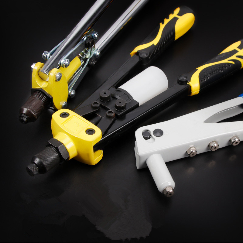 Practical Riveter Gun Manual Light Weight Riveter Gun Kit Blind Rivet Repair Heavy Duty Tool Applicable For Aluminum/Steel Nail