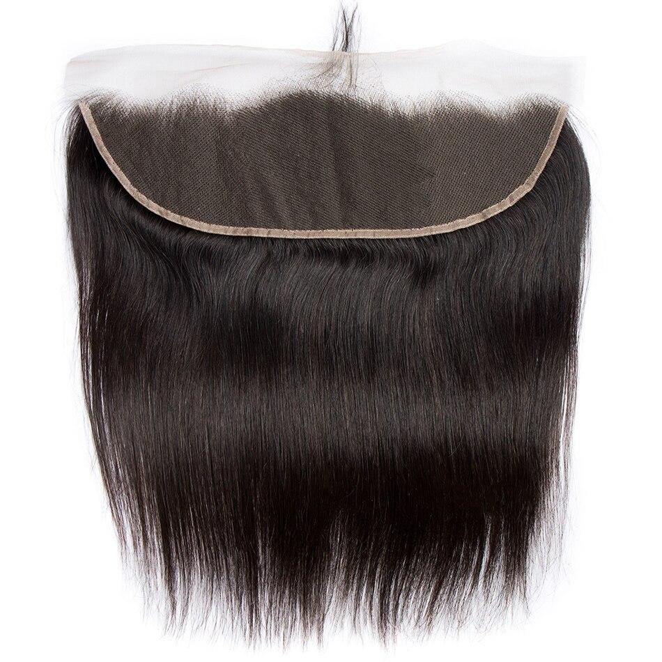 ALIBELE cabello brasileño encaje recto cierre Frontal 130 densidad Remy cabello humano cierre 13x4 Pre desplumado Frontal con el pelo del bebé-in Cierres from Extensiones de cabello y pelucas on AliExpress - 11.11_Double 11_Singles' Day 1