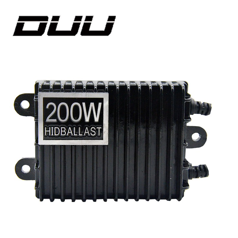 DUU 2pcs 200W For HID Bi Xenon Slim Digital Replacement Ballast Reactor Light For H1 H3