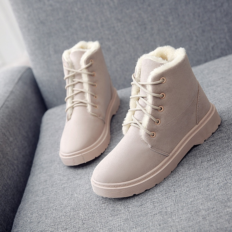 Fashion 2018 Winter Snow Boots Women Flock Fur Plush Inside Ankle Boots Female Lace Up Platform Botas Mujer Warm Peluche Shoes бра nulvi lsf 2111 01 lussole 1179119