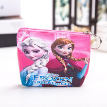 2019 new Disney cute cartoon frozen elsa and Anna princess coin bag Children's hand snack bag PU storage bag(China)
