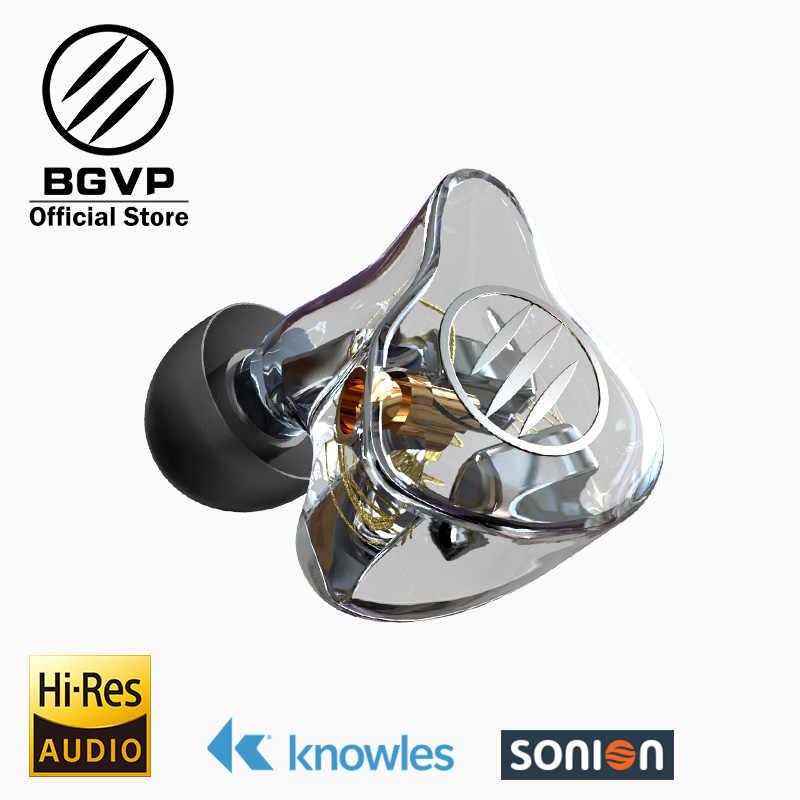 BGVP DM7 6 BA w monitory ucha słuchawki HIFI nowy 2019 dostosować IEM knowles sonion kierowców z prezent zestaw słuchawkowy z dwóch kabli
