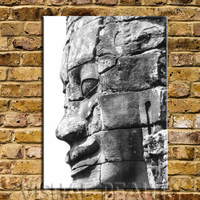 FREE SHIPPING Wall Decorative Buddha Face Painting Canvas Arts Oil Painting(Unframed)50x70cm