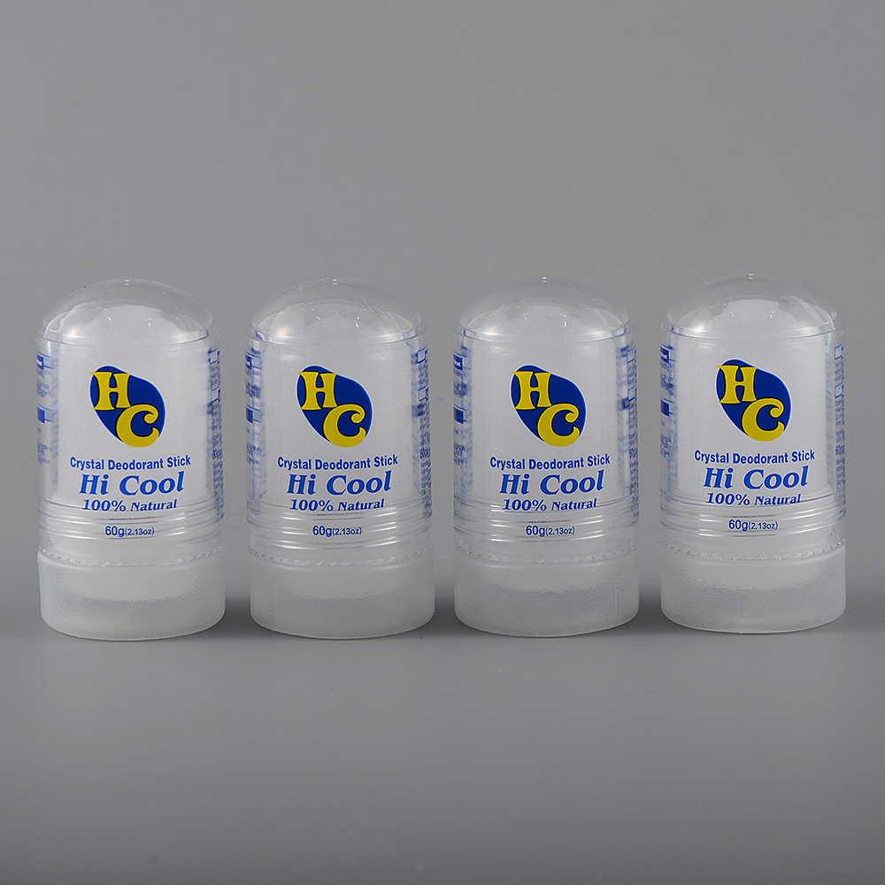 Bâton de déodorant de bâton d'alun de 60g bâton antitranspirant déodorant de cristal de déodorant d'alun, retrait des aisselles de 60g pour l'homme de femmes