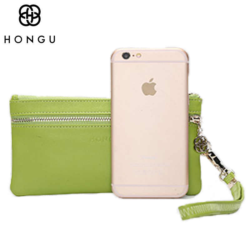 Hongu дамы маленькая сумочка из яловой кожи Ключи бумажник портмоне для Для женщин сумка Card Holder дизайнер кошелек известный бренд синий