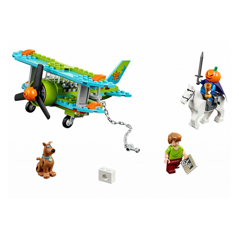 127 Pcs Scooby Doo Mystery Plane Adventures Momia Museo Misterio Plane Kits Figures Building Block 75901 10429 bela 10429 scooby doo mummy museum mysterious plane minifigures building block minifigure toys best legoelieds toys
